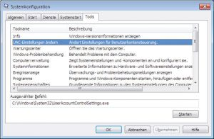 windows-7-systemkonfiguration-tools-uac | RxView™/RxHighlight™ Installationsprobleme