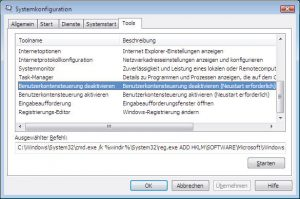 windows-vista-systemkonfiguration-tools-benutzerkontensteuerung | RxView™/RxHighlight™ Installationsprobleme