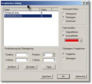 rxhighlight-dialogbox-ueberlagern | Feintuning beim Überlagern/Vergleichen von Zeichnungen in RxView/RxHighlight