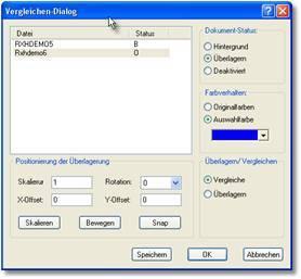 rxview-dialogbox-zeichnungsvergleich | Zeichnungs-/Plan-/PDF-/Hybrid Vergleich bereits in der Grundversion RxView verfügbar