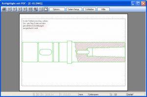 rxview-rxhighlight-seitenanshicht-drucken-und-plotten | Drucken und Plotten mit RxView/RxHighlight