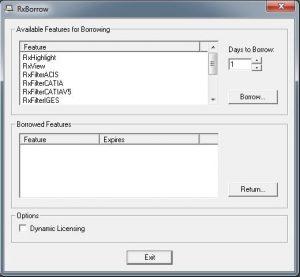 rxborrow-ausleihen-von-lizenzen-flexlm | Ausleihen von Lizenzen