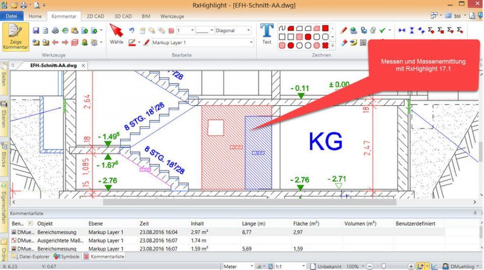 Messen & Mengen- und Massenermittlung mit RxHighlight R17.1