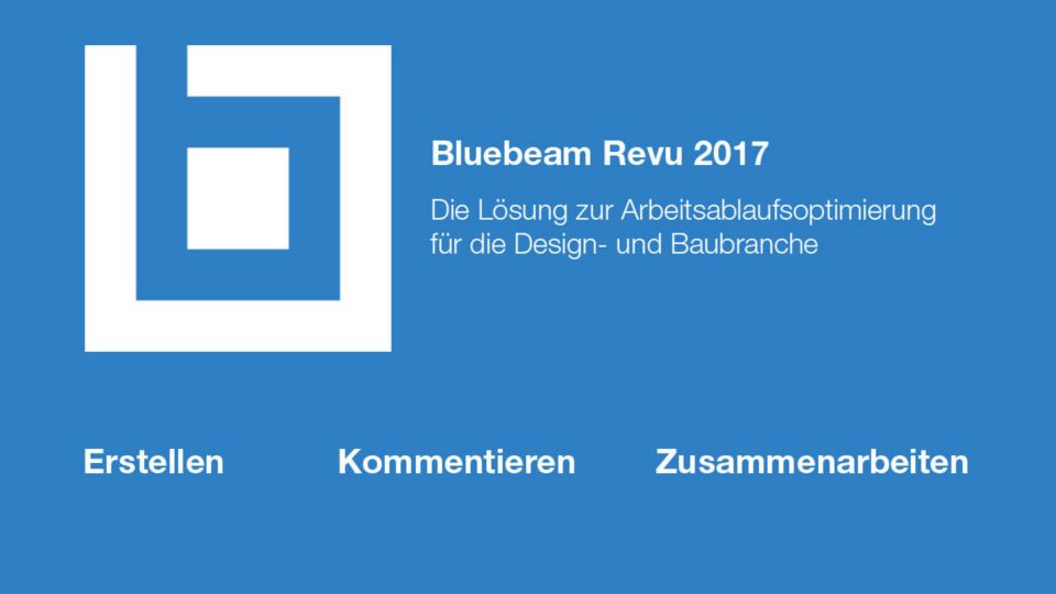 Update! Bluebeam Revu 2017