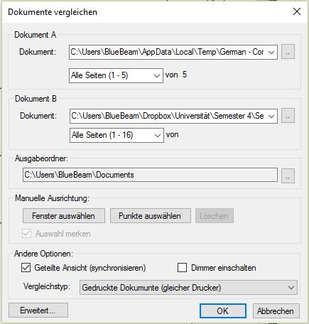 Dokumenten & Zeichnungsvergleich auch von Explosionszeichnungen und Bauplänen von zwei oder mehreren Files mit Bluebeam - Revu