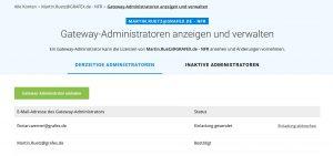 bluebeam-gateway-administratoren-verwalten | Verwaltung von Enterprise License und Open License