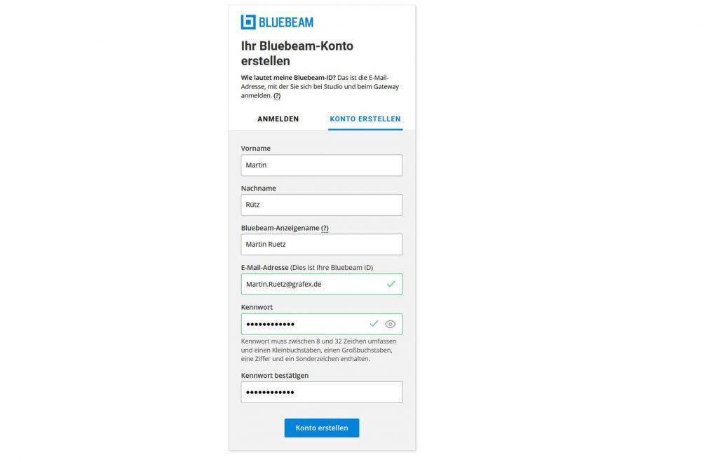 bluebeam-konto-erstellen
