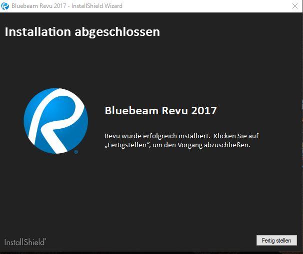 bluebeam-revu-2017-installation-abgeschlossen