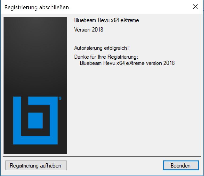 bluebeam-revu-2018-installation-registrierung-abschliessen