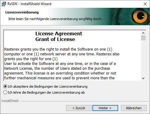 installation-rxsdk-02-lizenzvereinbarung