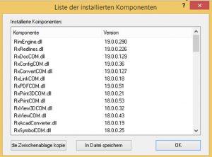 rxview-rxhighlight-r19-liste-der-installierten-komponenten | Das ist neu in RxView & RxHighlight R19