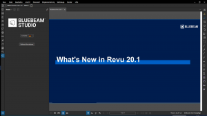 Update: Bluebeam Revu 20.1