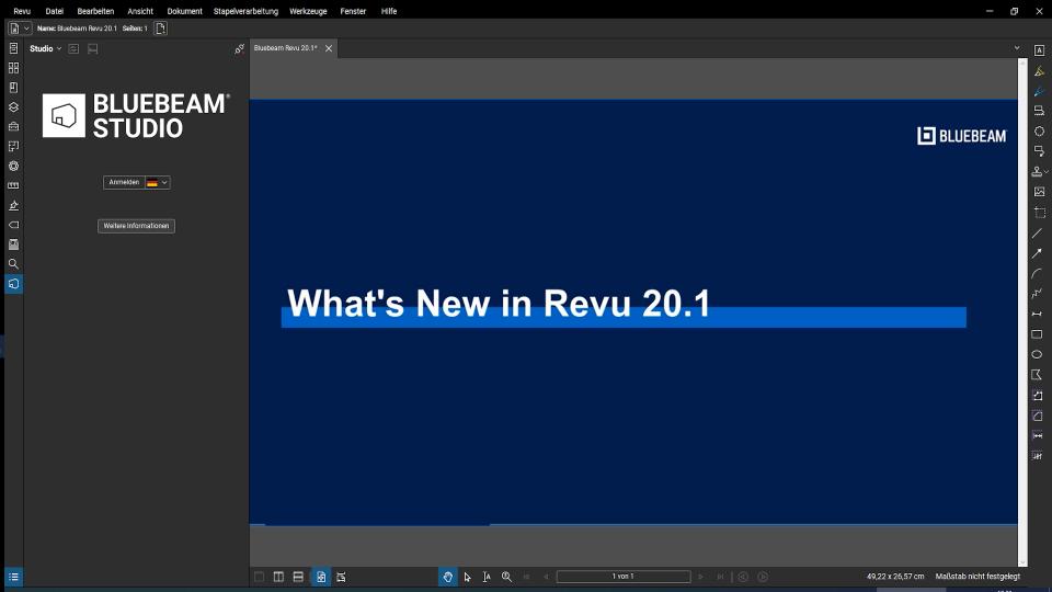 Update: Bluebeam Revu 20.1
