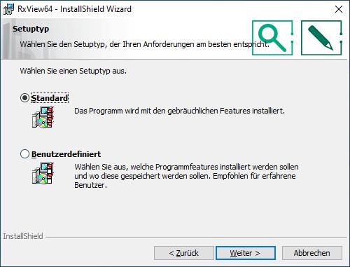 Installation RxView/RxHighlight Schritt 5