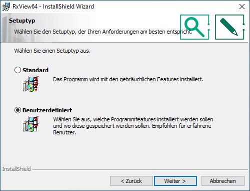 Installation RxView/RxHighlight Schritt 5a