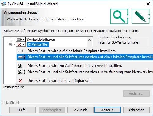 Installation RxView/RxHighlight Schritt 5c
