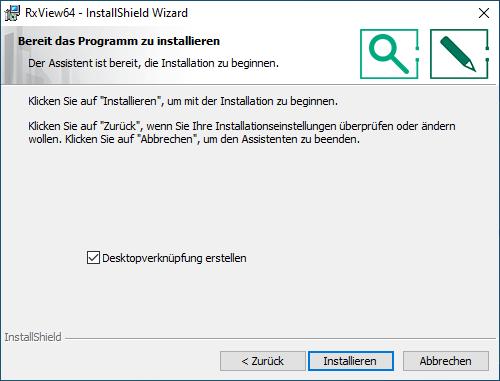 Installation RxView/RxHighlight Schritt 6
